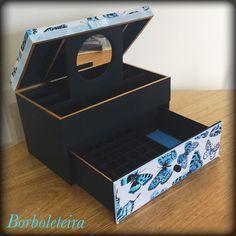 Caixa para maquiagem borboleta 2