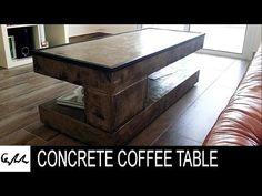 DIY Extreme concrete coffee table - YouTube