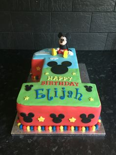 Mickey Mouse number 1 Birthday Cake first birthday