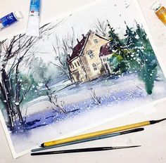 Watercolorist: @tania_kuts #waterblog #акварель #aquarelle #drawing #art #artist #artwork #painting #illustration #watercolor #aquarela