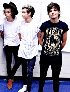 Harry Styles, Niall Horan and Louis Tomlinson