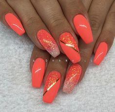 vizitat designs acrylic summer olaru coral nails anca nail pin by on de inPin by Olaru Anca on De vizitat in 2019 Coral Acrylic Nails, Glitter Nails, My Nails, Stiletto Nails, Spring Nails, Summer Nails, Acrylic Nail Designs, Nail Art Designs, Coral Nails With Design