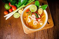 Everyone loves this spicy prawn soup from the Central Plain of Thailand. It takes only few minutes to prepare and cook it.