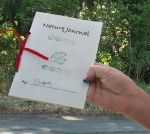 Making a Nature Journal with Red Ribbon Like John Muir Journals, from Sierra Club
