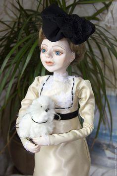 Коллекционная кукла Дама с собачкой – купить или заказать в интернет-магазине на Ярмарке Мастеров   Коллекционная кукла в единственном экземпляре.