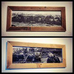 Altholzrahmen für Fotoformat 20x60cm inkl. Aufhängung und Acrylglasscheibe. Ebenfalls inklusive ist ein Beispielbild aus den Tiroler Bergen. Preis 55€ zzgl. Versand. HOLZMADE Natürlich.liebevoll.handgemacht Bergen, Frame, Home Decor, Mirror Image, Signage, Mirror Glass, Picture Frame, Decoration Home, Room Decor