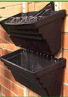 pots for vertical gardening with drip irrigation