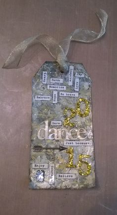 On to Tim Holtz's tags of 2015~! My take on January 2015 #12Tags2015