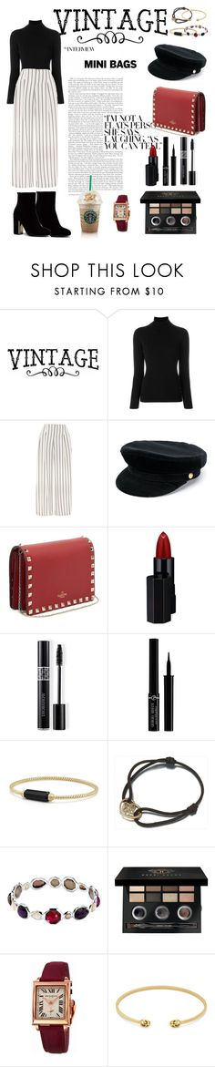 """vintage"" by sarar11 ❤ liked on Polyvore featuring La Fileria, Topshop, Manokhi, Valentino, Serge Lutens, Christian Dior, Giorgio Armani, David Yurman, Louis Vuitton and Ippolita"