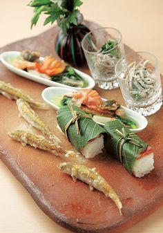 Sea Bream Oshizushi (pressed sushi) 鯛の押し寿司