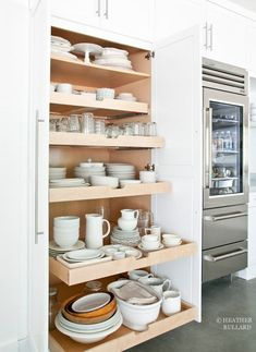 A giant dish pantry