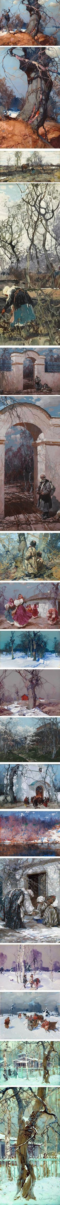 Stepan Kolesnikoff (Kolesnikov), Ukrainian, Russian Yugoslav artist gouache and oil