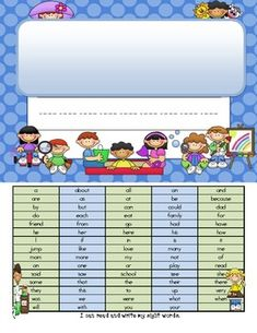 FREEBIE - Personalize, print, and paste the cover to an envelope or folder. This homework folder cover has a list of high frequency words, numbers and the alphabet guide with arrows for proper letter formation. Hands On Activities, Classroom Activities, Classroom Organization, Classroom Ideas, Beginning Of Kindergarten, Preschool Kindergarten, Teaching Tools, Teacher Resources, Homework Folders