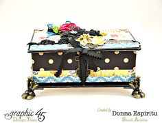 Times Nouveau altered Book Box by Donna #graphic45