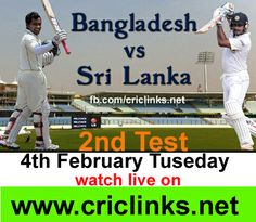 4th February .Tuseday..2nd Test between sri lanka vs Bangladesh played at Chittagong..After lose in 1st Test bangladesh looking to fight back,other hand sri lanka will like to finish on high .Match will be start at 8.30 AM PST.9.00 AM IST.Watch live action only on http://www.criclinks.net/