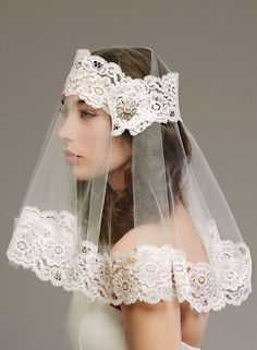 Wow! Ultra-Modern Shoulder Length Veil