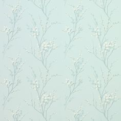 Laura Ashley Pussy Willow Duck Egg Floral Wallpaper