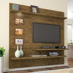 Estante para TV e Home Theater Interativo Valdemóveis Ipê