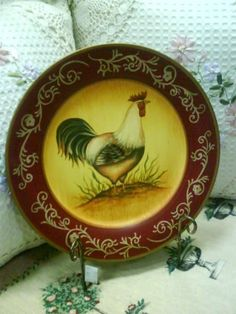 Rooster Decorative Plate