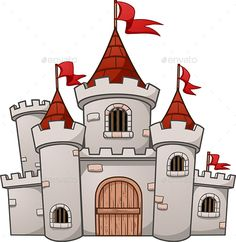Cartoon Castle by memoangeles Cartoon medieval castle. Vector clip art illustration with simple gradients. All in a single layer. Castle Clipart, Castle Vector, Castle Drawing, House Drawing, Chateau Medieval, Medieval Castle, Medieval Tower, Cartoon Drawings, Easy Drawings