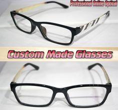 9a9e85baa84 Vogue White pattern legs black frame Optical Custom made optical lenses  Reading glasses +1 +