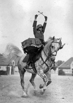 World War 2: German drummer cavalryman