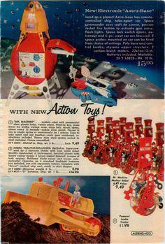 1960 Advert Toy Astro Base Space SHIP Mr Machine Jumbo Tractor Bulldozer   eBay