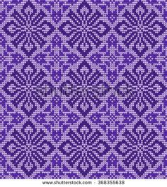 Knitting Machine Patterns, Knitting Charts, Knitting Stitches, Palestinian Embroidery, Cross Stitch Rose, Fair Isle Knitting, Loom Beading, Needle And Thread, Pulls