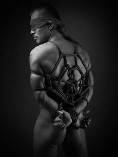 Spider naked Male Bondage