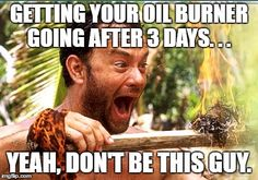 Getting your oil burner going after 3 days…We are always here for you. Give us a call 508-695-8700. https://powers-oil.com/  #oil #heating #winter
