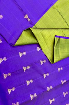 Green and Blue Handloom Pure Silk Kanjeevaram Saree(2gm gold zari)