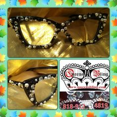 """@QUEEN BLING's photo: """"CLEAR COOKIES  CREAM SUNNIES ONLY $80, Summer special free shipping. Ching2Bling: www.queensbling.com #eyeglasses #women #rhinestones #travel #famous #bling #sunglasses #sunnies #crystals #California #Ballroomdancing #whiteparty #detroitprincess #kidsfashions #designersunglasses #Motown #swag #Detroit #queensbling #fashion #boutique #shades #eyewear #rhinestonesunglasses #blingsunglasses #designereyewear #diamonds #girls #style #shades #celebrities"""""""