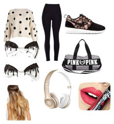 """""""Untitled #5"""" by spunkyblonde101 on Polyvore featuring beauty, NIKE, Beats by Dr. Dre, Johnny Loves Rosie and Fiebiger"""