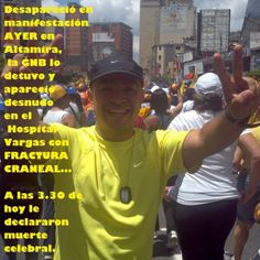 "21 de feb. de 2014 / ""DIFUNDIR :Murió Alejandro Marquez luego d haber sido detenido p/GNB ASESINA ayer en Altamira"""