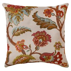 "Threshold� Floral Toss Pillow - Sand (18""x18"")"