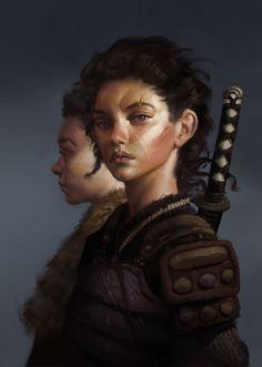 Big sister, Simon Gocal on ArtStation at https://www.artstation.com/artwork/big-sister