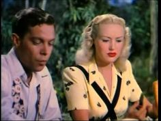Dick Haymes sings The More I See You to Betty Grable, with whom he originally introduced it in the 1945 film Billy Rose's Diamond Horseshoe, in this rare T Dick Haymes, Pin Up Girls, Movie Stars, The Darkest, Singing, Cinema, Golden Days, Film, Couple Photos