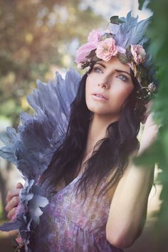 Boho Angel - Deirdre  Photography |- Vicky Papas-Vergara © 2012.  Model |- Deirdre Crossan  Stylist & headpiece |- Penny Adams  Stylist Assist & headpiece |- Bailey White  Makeup |- Kerry Tseros  Hair Stylist |- Parissa Andreou  Editing |- Robert Coppa  |--  |--
