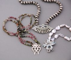 Original up-cycled vintage necklaces