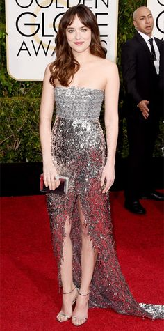 Golden Globes 2015: Red Carpet Arrivals - Dakota Johnson in Chanel Fall 2014 Haute Couture #InStyle