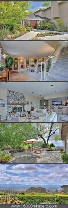 Great home for outdoor living with amazing valley views. http://15000miradero.com/