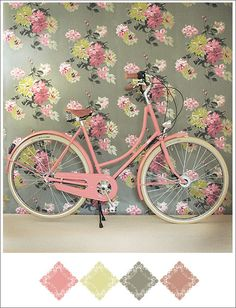 love it all! the wallpaper, the bike and the colorway!