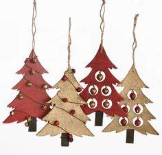 елки из картона и бумаги