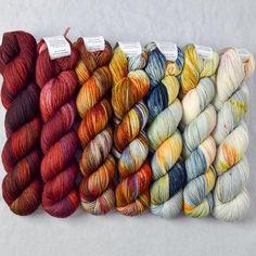 Special Edition 203 - Miss Babs Yummy Fade Set Yarn Thread, Yarn Stash, Crochet Yarn, Knitting Yarn, Knitting Ideas, Find Your Fade Shawl, Knit Wrap Pattern, Ombre Yarn, Yarn Inspiration