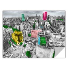 ArtApeelz 'Tokyo Skyline' by Revolver Ocelot Photographic Print Removable Wall Decal