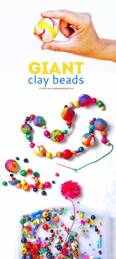 If you are looking for polymer clay ideas, try making GIANT clay beads using aluminum foil as the base. Use them for your next creative project.