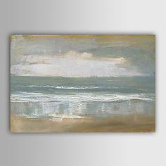 Abstracto/Paisagens Abstratas Pintura a óleo Pintados à mão Tela Wall Art Artistas outros 1 Painel Pronto para pendurar – EUR € 59.99