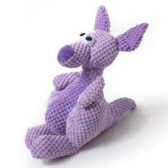 Checkered Kangaroo Stuffed Dog Toy ~ Chew Guard and Double Stitched for Rough Dog Play | Muttropolis