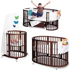 Stokke Sleepi convertible crib. Keep the bassinet in our room for the first couple months and the extend it and put it in the nursery! Good idea!