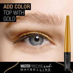 See how to easily create 3 different eyeliner looks using NEW Master Precise Ink Metallic Liquid Liner from Maybelline. Try just the basic look or add color to go bold. Feeling daring? Go even bolder by adding another shade to your look. Up to 24 hour wear and budgeproof.